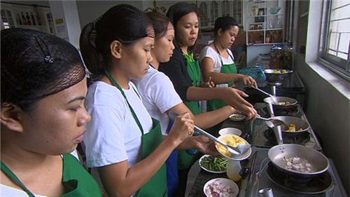 Những thực tập học nấu ăn tại Viện đào tạo